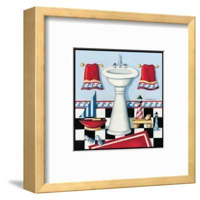 Nautical Bath II-Kathy Middlebrook-Framed Art Print