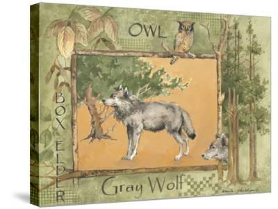 Gray Wolf-Anita Phillips-Stretched Canvas Print