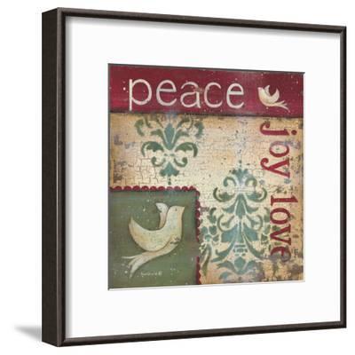 Peace Joy Love-Kim Lewis-Framed Art Print