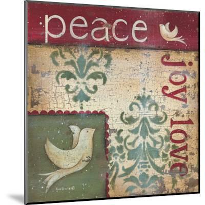 Peace Joy Love-Kim Lewis-Mounted Art Print