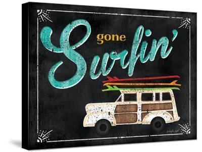Gone Surfin-Jennifer Pugh-Stretched Canvas Print