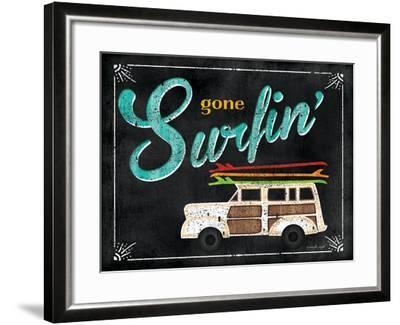 Gone Surfin-Jennifer Pugh-Framed Art Print