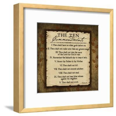 The Ten Commandments-Jennifer Pugh-Framed Art Print