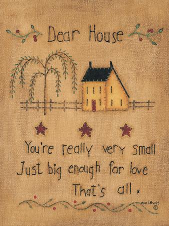 Dear House-Kim Lewis-Framed Art Print