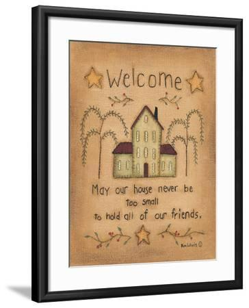Welcome-Kim Lewis-Framed Art Print