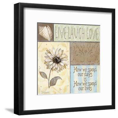 Live Laugh Love-Jo Moulton-Framed Art Print