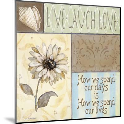 Live Laugh Love-Jo Moulton-Mounted Art Print