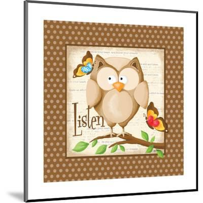 Listen-Kathy Middlebrook-Mounted Art Print