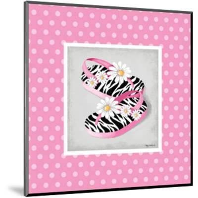 Wild Child Flip Flop-Kathy Middlebrook-Mounted Art Print