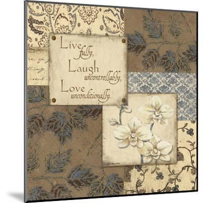 Live Laugh Love-Jo Moulton-Mounted Art Print