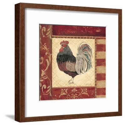 Red Rooster IV-Jo Moulton-Framed Art Print