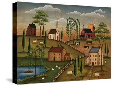 Village Day-Kim Lewis-Stretched Canvas Print