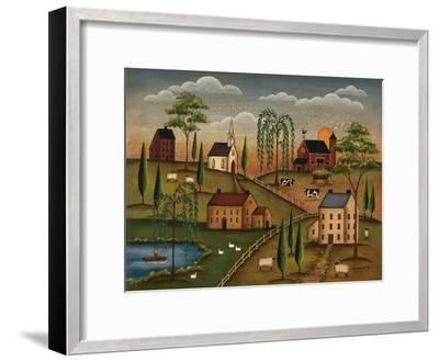 Village Day-Kim Lewis-Framed Art Print