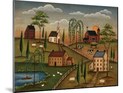 Village Day-Kim Lewis-Mounted Art Print