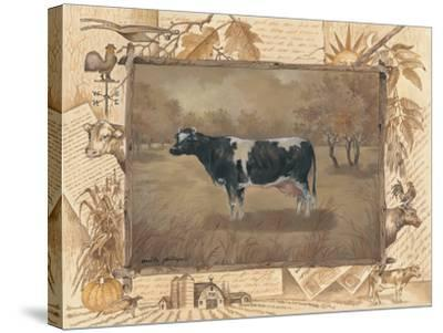 Cow-Anita Phillips-Stretched Canvas Print