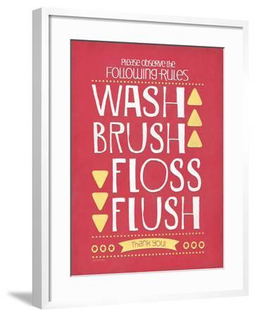 Wash Brush Floss Flush-Jo Moulton-Framed Art Print