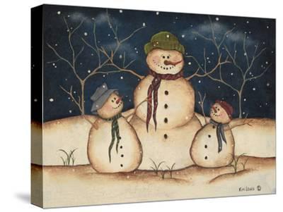 Two Snowmen-Kim Lewis-Stretched Canvas Print