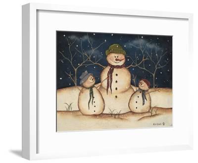 Two Snowmen-Kim Lewis-Framed Art Print