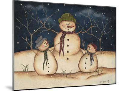 Two Snowmen-Kim Lewis-Mounted Art Print