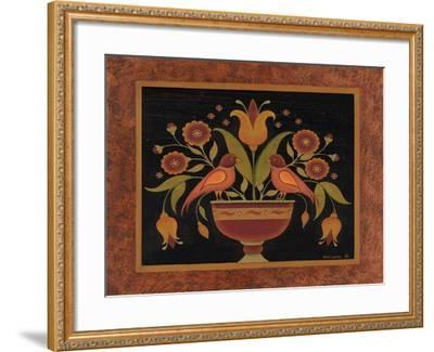 Floral with Birds-Kim Lewis-Framed Art Print