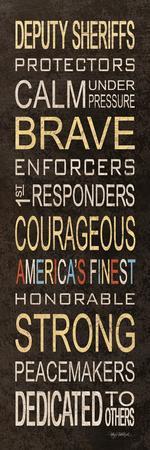 Deputy Sheriffs-Kathy Middlebrook-Stretched Canvas Print