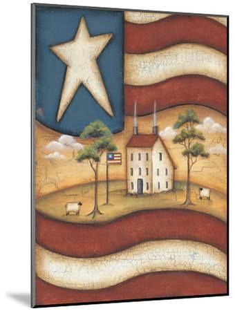 Folk Flag-Kim Lewis-Mounted Art Print