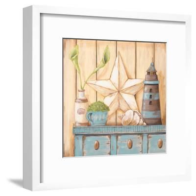Coastal Cupboard I-Jo Moulton-Framed Art Print
