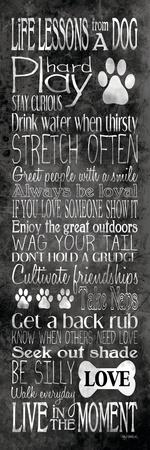 Life Lessons from a Dog-Kathy Middlebrook-Stretched Canvas Print