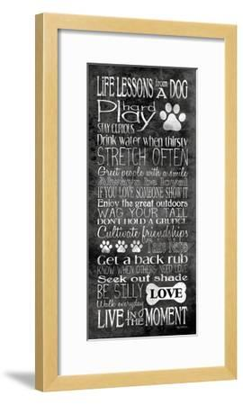 Life Lessons from a Dog-Kathy Middlebrook-Framed Art Print