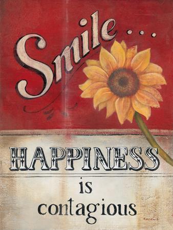 Smile-Kim Lewis-Framed Art Print