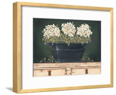 Floral with Hydrangea-Jo Moulton-Framed Art Print