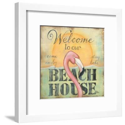 Welcome to Our Beach House-Kim Lewis-Framed Art Print