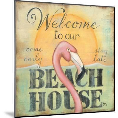 Welcome to Our Beach House-Kim Lewis-Mounted Art Print