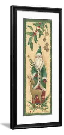 Santa with Reindeer-Anita Phillips-Framed Art Print