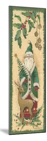 Santa with Reindeer-Anita Phillips-Mounted Art Print