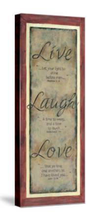 Live Laugh Love-Karen Tribett-Stretched Canvas Print