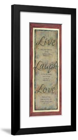 Live Laugh Love-Karen Tribett-Framed Art Print