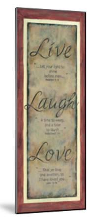 Live Laugh Love-Karen Tribett-Mounted Art Print