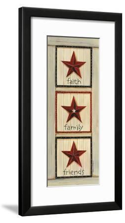 Faith, Family, Friends-Karen Tribett-Framed Art Print