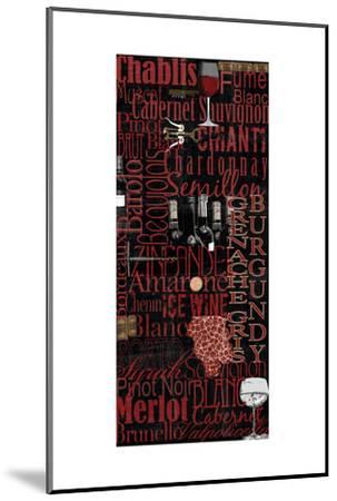 Red Wine - Black-Lisa Wolk-Mounted Art Print