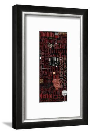 Red Wine - Black-Lisa Wolk-Framed Art Print