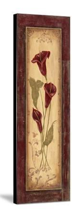Crimson Blooms I-Jo Moulton-Stretched Canvas Print