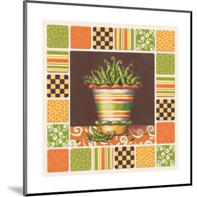 Peas-Kathy Middlebrook-Mounted Art Print