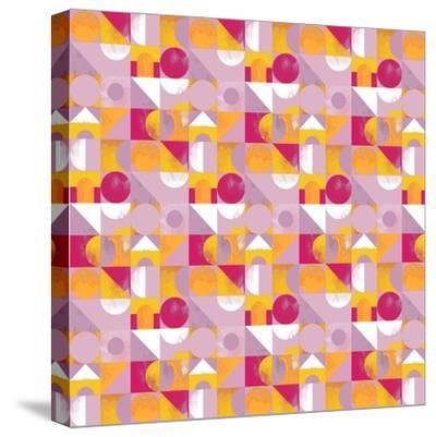Toy Blocks Small - Red-Laurence Lavallee-Stretched Canvas Print