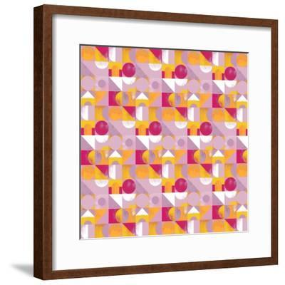 Toy Blocks Small - Red-Laurence Lavallee-Framed Giclee Print