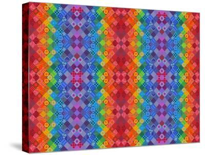 Painted Patchwork, 2013-Jane Tattersfield-Stretched Canvas Print