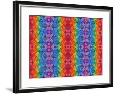 Painted Patchwork, 2013-Jane Tattersfield-Framed Giclee Print