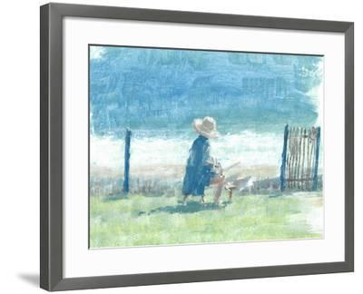 Painting the Sea-Lincoln Seligman-Framed Giclee Print