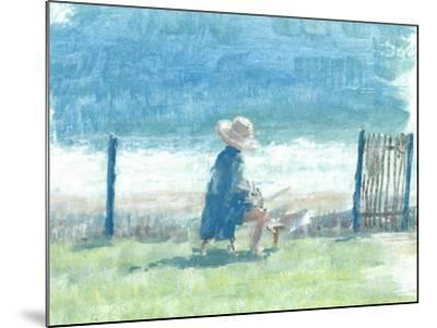 Painting the Sea-Lincoln Seligman-Mounted Giclee Print