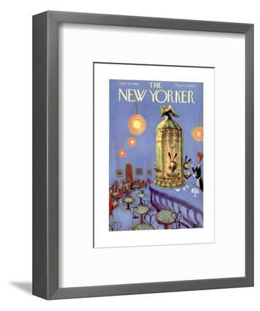 The New Yorker Cover - September 20, 1958-Robert Kraus-Framed Premium Giclee Print